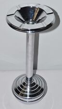 ​Vintage 70's 'Art Deco' Floor Standing Chrome Rocking Ash Tray  [PL2115]