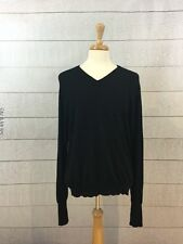 100% Pure 2 Ply Cashmere Sweater Mens Size Large V Neck Black Club Room