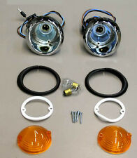 New! 1965 Mustang Parking Light Lamp Lights Pair Lenses and Gaskets TURN SIGNALS