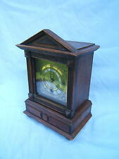 Mantel clock vintage Mahogany  beautiful design Brass face cross arrows HAC  M21
