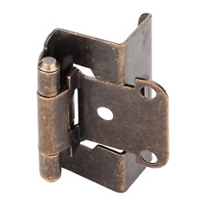 Full Wrap Self Closing Hinge 1/2 Overlay Antique Brass