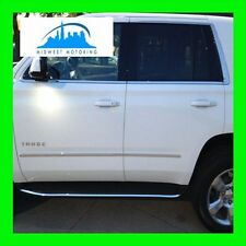 2015 CHEVY TAHOE SUBURBAN CHROME RUNNING BOARD MOLDING TRIM 2PC + 5YR WARRANTY