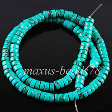 3x6mm  Natural Turquoise Rondelle Spacer Round Loose Beads 15.5 Inches MG1482