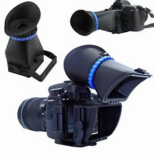 "3.0X LCD Viewfinder For Nikon CANON Sony Leica SLR DSLR 3""/3.2"" Screen Camera BK"