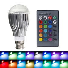 New 9W B22 100-240V Remote Control Color Changing RGB LED Light Bulb Lamp