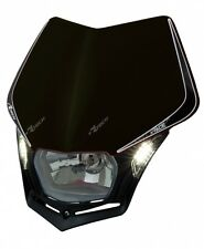 Mascherina Faro Anteriore Moto Universale Rtech V-face LED Nero Black Headlight