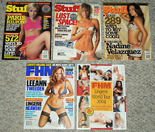 Stuff & FHM Magazines 2004-2006 (Lot of 5) Paris Hilton, Tricia Helfer, Lingerie