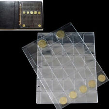10Pages 30 Pockets Classic Coin Holders Sheets for Storage Collection Album