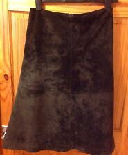 Brown Soft Suede Skirt From Oasis Size 8 VGC festival Boho Leather