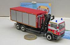 """Herpa 091732MAN TGS M  WLF-LKW mit Kran """"Feuerwehr Brandenburg"""