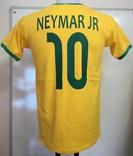 BRAZIL NEYMAR JR 10 RETRO FOOTBALL TEE SHIRT SIZE ADULT SMALL BRAND NEW
