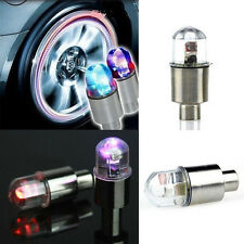 Flash Bicycle Car Auto Wheel Valve Cap Neon Lamp Colorful LED Light Decoration