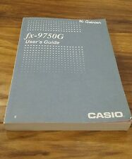 Casio fx-9750G User's Guide - Free Postage!