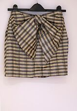 Topshop check mini skirt with big bow at the back *BNWT* UK size 6 RRP £30