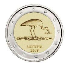 LETONIA  2 euro 2015 CIGUEÑA NEGRA - Latvia - Lettland - Latvijas