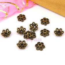 300Pcs Antiqued Bronze Floral Bead Caps 6mm A5196