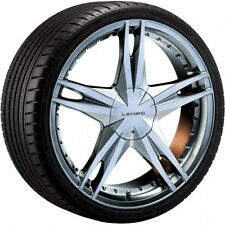 "18"" LENSO LS21 CHROME ALLOY WHEELS & TYRES 4x100/114.3 fit Lancer Pulsar Corolla"