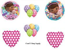 DOC MCSTUFFINS HAPPY BIRTHDAY PARTY BALLOONS Decorations Supplies POLKA DOTS