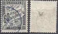 -- FRANCE TIMBRE TAXE N°21 - OBLITÉRATION CACHET A DATE BLEU (RARE) - COTE 65€ -