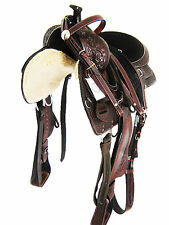 "17"" MAHOGANY BROWN ""THSL"" WESTERN ENDURANCE SADDLE SET WITH HORN -  (1085)"