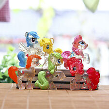 6pcs My Little Pony Friendship Is Magic Transparency Rarity Figure Toy Loose *