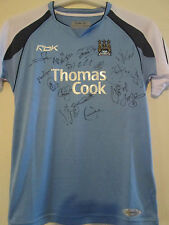 Squad Signed 2006-2007 Manchester City Home Football Shirt with COA /39693