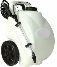 Garden Sprayer On Wheels 12Volt Rechargeable Electric Battery Pesticide 5 Gallon