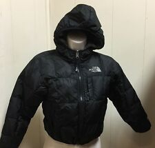 Boys North Face Moondoggy 550 Black Reversible XS 6 Down Puffer Coat Jacket