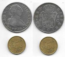 ESPAÑA 1788. MONEDA DE PLATA DE CARLOS III. 8 reales. Sevilla C