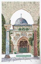 THEA GOUVERNEUR  534  Al-Aqsa Mosquée  Lin  Broderie  Point de croix  Compté