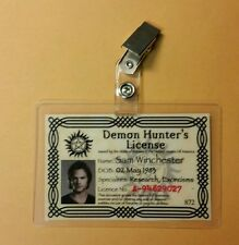 Supernatural ID Badge-Demon Hunter's License Sam Winchester costume cosplay