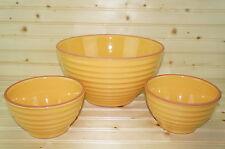 """Studio Nova MOLDOVA Terra Cotta Yellow Bowl Set 1-10 3/4"""" x 5 3/4"""" 2-6 1/8"""""""
