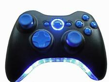 Custom Xbox 360 Wireless Controller LED Bumper (Blue) Light Up Bottom Bumper