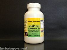 L-Arginine 500mg, High Quality, energy, muscle, Made in USA ~ 120 tablets