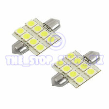 2x Replacement 8 LED 35mm Interior Lamp Light  ICE White Bulbs (DA3650508A)