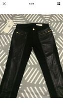 SASS & BIDE LEATHER PANEL BLACK SKINNY JEANS SIZE26/8 RPR $390