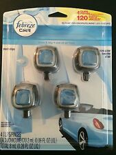 4 Febreze car Vent clips,Air freshner,scent and odor eliminator Linen & sky