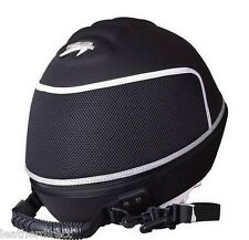 Black Motorcycle Bike Car Karting Crash Helmet Bag Carrier Shell Store Free P&P