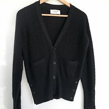 NEW $2000 Thom Browne Runway Cashmere Cable Knit Cardigan Sweater TB Sz 1