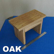 SOLID WOODEN CHILDRENS KIDS STEP STOOL FOOT CHAIR OAK WOOD VINTAGE DESIGN ECO