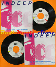 LP 45 7'' INDEEP The record keeps spinning 1983 italy CGD INT 10526 cd mc dvd(*)