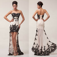 Lace Chiffon Evening Formal Party Ball Gown Prom Bridesmaid Dress6 8 10 12 14 16
