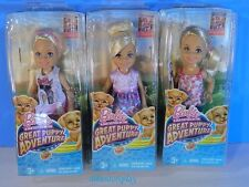 Barbie Sisters Kelly  Great Puppy Adventure Chelsea Mini  Doll Set of 3