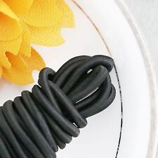 Elastic Cord Round Black 55ydx2.5 mm great for sewing, crafts & buttonhole loops
