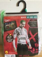 The Joker Suicide Squad Costume Cosplay Men's New Xl 40-42 Halloween Batman