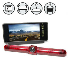 "Backup Camera System with Universal Third Brake Light Camera, 7"" TFT-LCD Mirror"