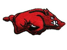 Red Razorback Hog Iron On Embroidered Applique Patch 1 Ferrets Treasures 14492