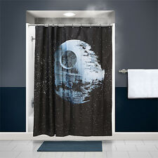 NEW Star Wars Death Star Bathroom Shower Curtain and Hooks