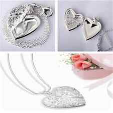 Fashion Sweet Valentine Lover Locket Love Heart Women Chain Pendant Necklace