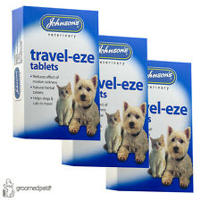 3xJohnson's Travel-eze Natural Herbal Tablets, Dog, Cat Motion Sickness Remedy